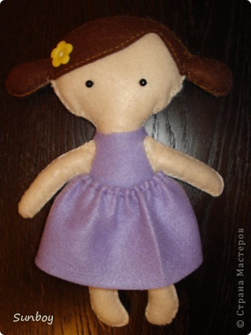 Кукла из фетра фото 1