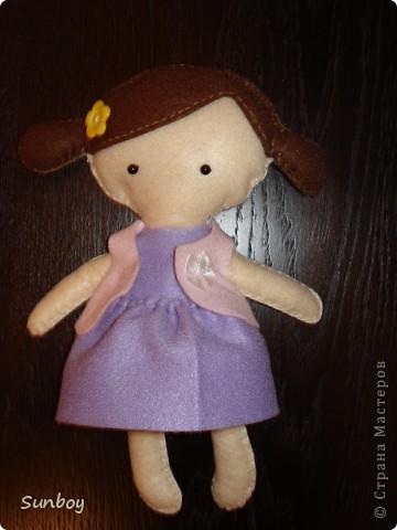 Кукла из фетра фото 5
