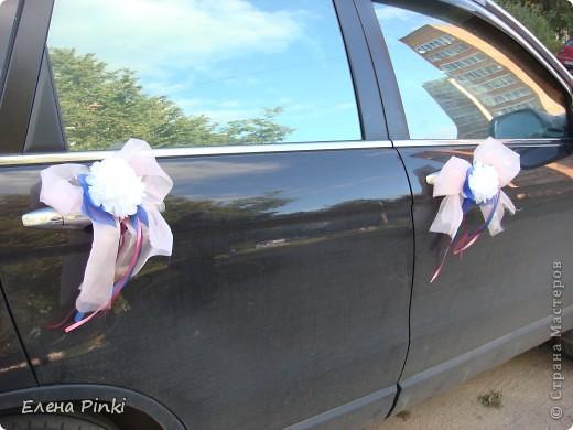 Доброй ночи, дорогие мастерицы!! Хочу поделиться с вами процессом создания свадебного украшения на машину. Делалось впервые, буду рада мнению со стороны фото 13