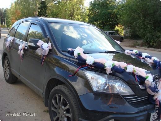Доброй ночи, дорогие мастерицы!! Хочу поделиться с вами процессом создания свадебного украшения на машину. Делалось впервые, буду рада мнению со стороны фото 14