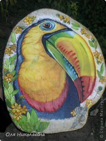 Хочу поделиться своей первой ключницей, со всеми! Вот такая она тропическая, яркая и разноцветная! фото 1