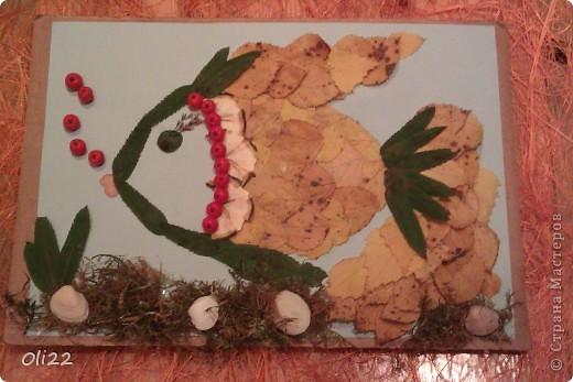 """Для старшей. Она тоже принимала активное участие. Назвали мы это произведение: """"Золотая рыбка"""" фото 1"""