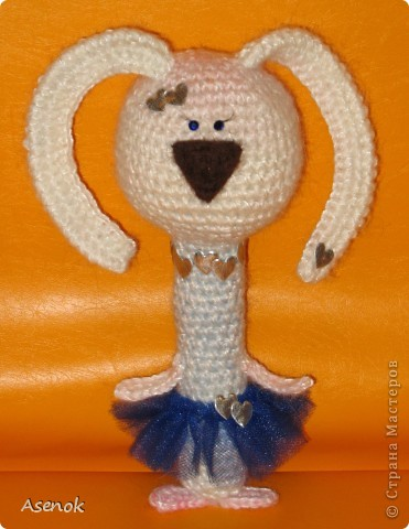 Насмотревшись на кролов Жанны http://stranamasterov.ru/user/19873 я не удержалась и сотворила вот такую девочку. фото 1