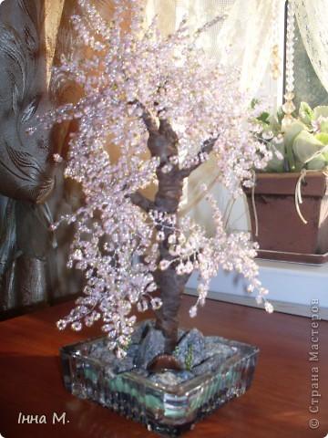 Дерево з бісеру. Сакура. фото 1