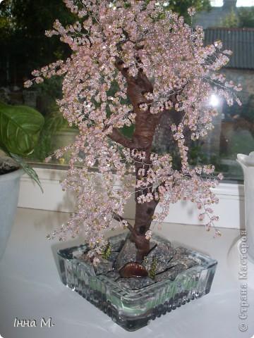 Дерево з бісеру. Сакура. фото 2