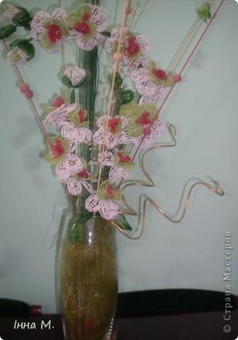Квіти з бісеру фото 1