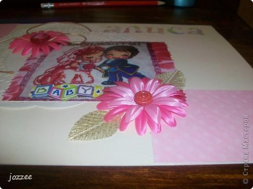 Вот соорудила свою первую скрап-страничку для альбома маленькой девочки Алисы (обложка альбома). фото 2