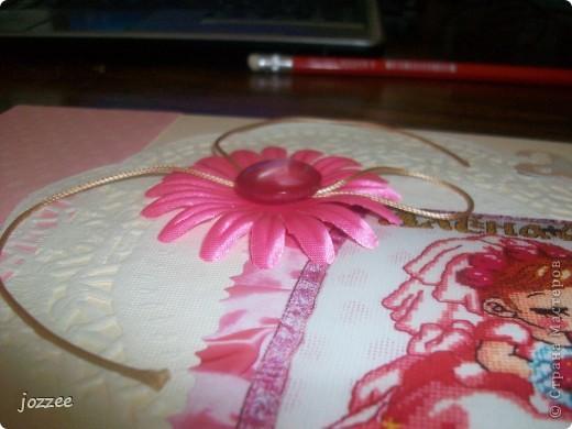 Вот соорудила свою первую скрап-страничку для альбома маленькой девочки Алисы (обложка альбома). фото 4