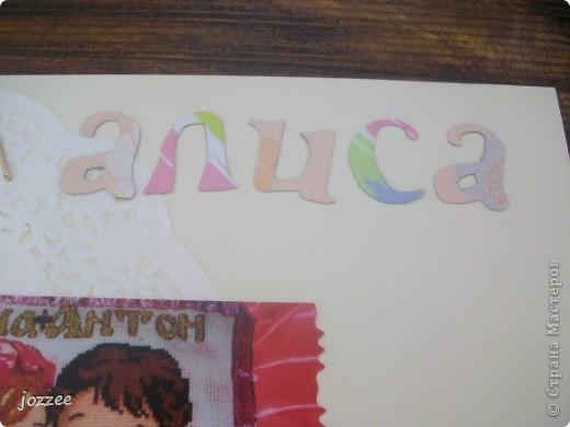 Вот соорудила свою первую скрап-страничку для альбома маленькой девочки Алисы (обложка альбома). фото 5