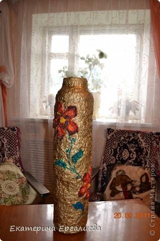 Решила смастерить напольную вазу, вот что у меня получилось. Это моё первое МК, мой дебют. фото 1