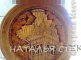 """Наконец выложу  продолжение экскурсии по выставке """"Золотая нить"""". На фото резные тарелочки расписанные в древнерусском стиле. Это работы Новосибирских мастеров. фото 39"""