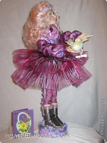 """моя первая кукла из запекаемого пластика:""""мечты цвета незабудки"""". фото 3"""