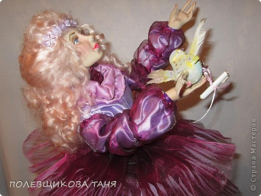 """моя первая кукла из запекаемого пластика:""""мечты цвета незабудки"""". фото 2"""