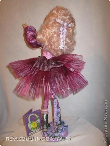 """моя первая кукла из запекаемого пластика:""""мечты цвета незабудки"""". фото 6"""