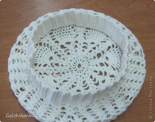 Нужно было срочно связать шапочку для девушки. Условие одно: резиночка 4,5 см. Ажур любой. фото 5