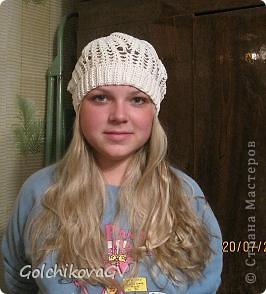 Нужно было срочно связать шапочку для девушки. Условие одно: резиночка 4,5 см. Ажур любой. фото 3