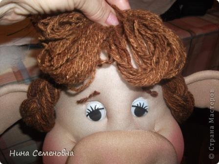 Куклы Шитьё Буренка мастер-класс Капрон фото 47