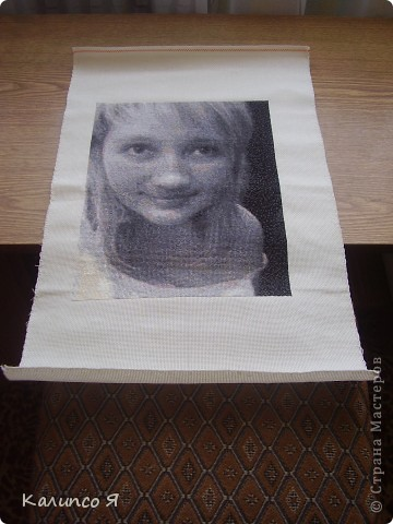 Решила написать заметку для того, чтобы поделится с теми кто планирует вышивать портрет..... Захотелось мне дето больше полутора года назад вышить портрет по фотке.....признаюсь честно не сильно искала программы для этого..... нашла сайт вот такой  http://www.igolki.net/- не знаю как сейчас, но раньше там делали схемы с разных картинок и высылали потом на почту..... Значит нашла я сайт.... забросила фотку..... через дня два выслали мне готовую схему..... Вышивать я хотела с размахом так что схема вышла большая и на 20 цветов... потрет делала больше месяца и в конце концов он мне вообще не понравился..... фото 2