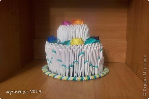 вот такой тортик я сделала для своего братика на день рожденья. фото 2