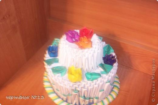 вот такой тортик я сделала для своего братика на день рожденья. фото 1