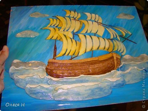 Вот и я сделала свой кораблик по МК Ларисы Ивановой. Ларочка, спасибо!!!  фото 2