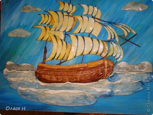 Вот и я сделала свой кораблик по МК Ларисы Ивановой. Ларочка, спасибо!!!  фото 1