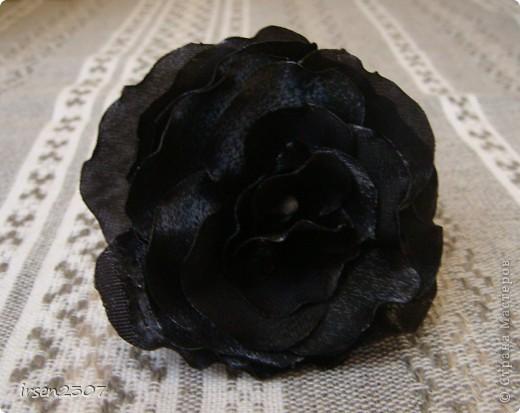 Роза из тафты фото 1