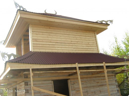 Так выглядит крыша сейчас. Законсервирована до весны. фото 15