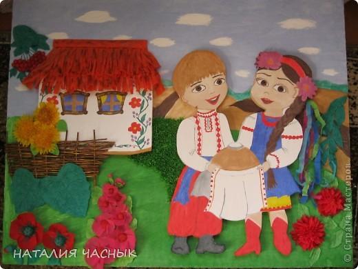 """По просьбе учительницы сделала такой уголок""""Україна - наш рідний край"""" фото 1"""