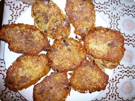 Драники из картофеля, курицы и шампиньонов фото 1