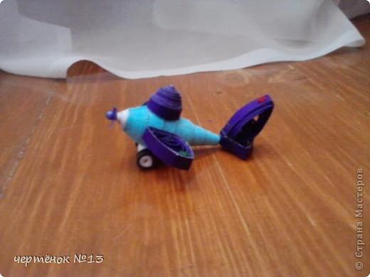 вот такой самолётик я сделала (с переди) фото 3