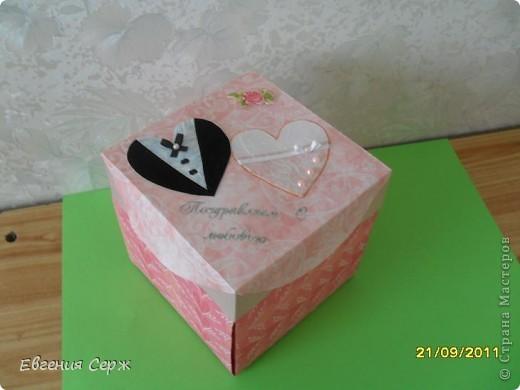 Вот такая подарочная коробочка была сделана по просьбе.Идеи по ее созданию были взяты у девочек с сайта  и я благодарна es-denol,k.aktus,Альбине Белая фото 2
