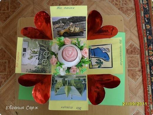 Вот такая подарочная коробочка была сделана по просьбе.Идеи по ее созданию были взяты у девочек с сайта  и я благодарна es-denol,k.aktus,Альбине Белая фото 1