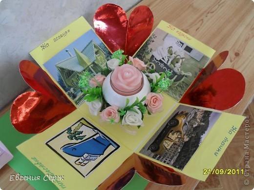 Вот такая подарочная коробочка была сделана по просьбе.Идеи по ее созданию были взяты у девочек с сайта  и я благодарна es-denol,k.aktus,Альбине Белая фото 4