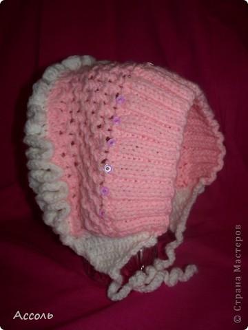 Связала такую вот шапочку для малышки на весну.  фото 1