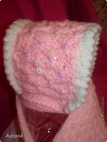 Связала такую вот шапочку для малышки на весну.  фото 3