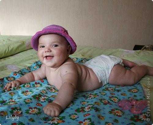 Панамка для малышки фото 1