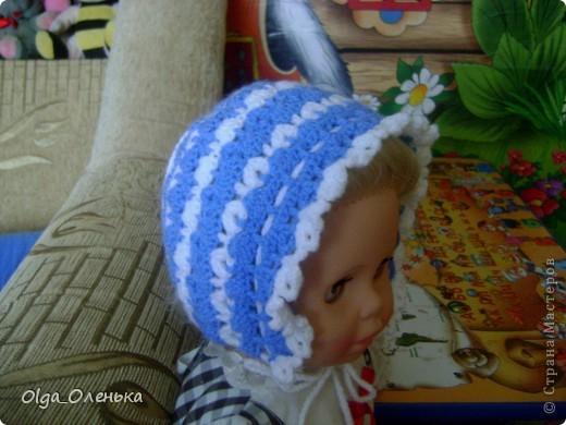 Чепчик, пинетки и жилетка для мальчика фото 2