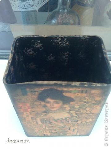 Приехала подруга из Америки и сказала:хочу черную вазу с Климтом. фото 5