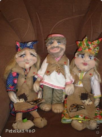 Две недели назад заказали мне трёх куколок - две бабки Ёжки и одного домового. фото 16