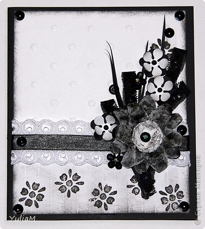 Всем доброго осеннего дня! Накопилось у меня немножко открыточек, коими и хочется похвастаться.:)) №1 - моя первая свадебная открытка, чем я неимоверно горжусь! Ездила за картоном и прикупила диайнерскую скрапбумагу, сразу идея открытки возникла.  фото 10