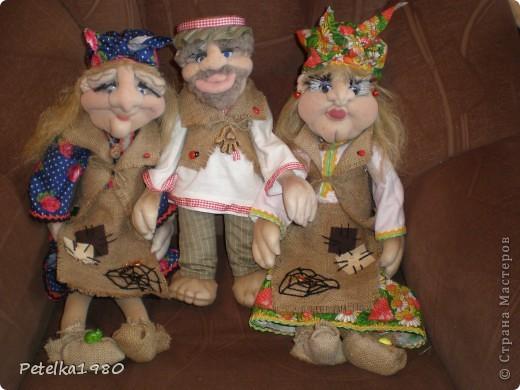 Две недели назад заказали мне трёх куколок - две бабки Ёжки и одного домового. фото 1