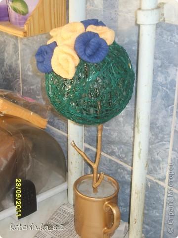 топиарий из салфеток фото 3