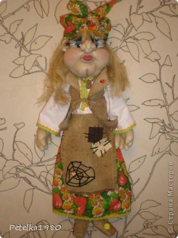 Две недели назад заказали мне трёх куколок - две бабки Ёжки и одного домового. фото 4