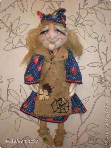 Две недели назад заказали мне трёх куколок - две бабки Ёжки и одного домового. фото 8