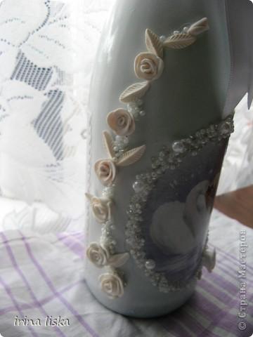 Извините,темная фотка,все потому,что бутылку зделала,а сфотографировать забыла,заказчики позвонили,что идут забирать,а я бросилась к фото-ту)) фото 2