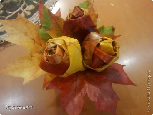 Розы из кленов фото 2