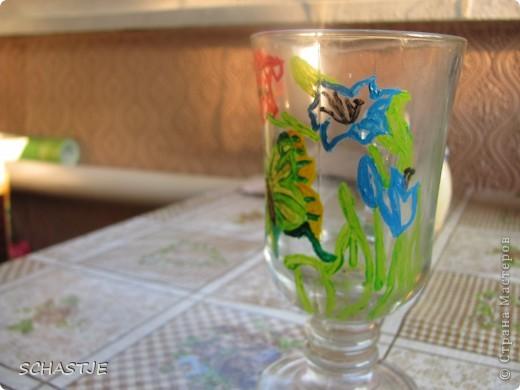 Моя первая попытка росписи стакана-чашки=)) Спасибо, что заглянули ко мне фото 2