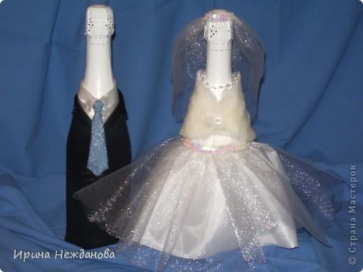 Вот такую пару я сделала на свадьбу. Устроим аукцион - будем продавать гостям )))))))))) фото 4