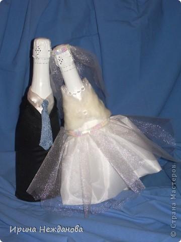 Вот такую пару я сделала на свадьбу. Устроим аукцион - будем продавать гостям )))))))))) фото 5